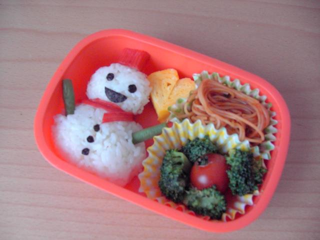 雪だるま弁当.JPG